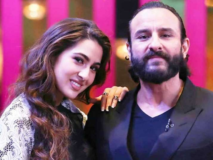 India Tv - Saif Ali Khan and Sara Ali Khan