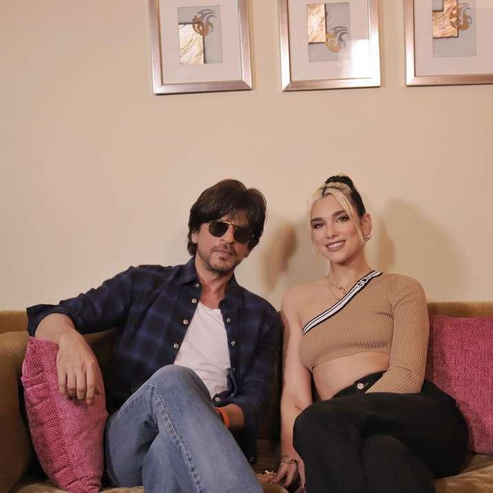 India Tv - Shah Rukh Khan shares photos with Dua Lipa