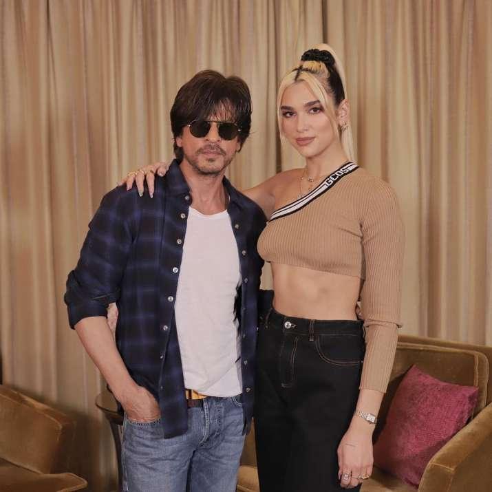 India Tv - Shah Rukh Khan with Dua Lipa