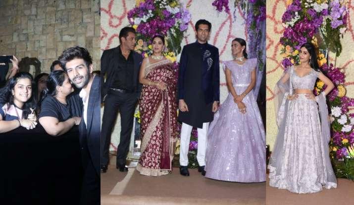 Bollywood celebrities arrive at Sooraj Barjatya's son's