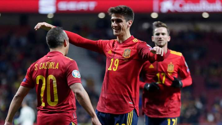 Spain rout Romania 5-0 in their last qualifier for Euro 2020