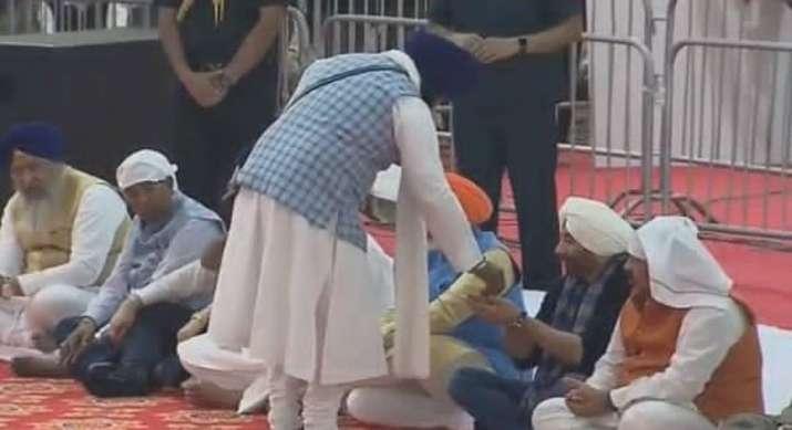 India Tv - Sunny Deol at Guru Darbar Sahib