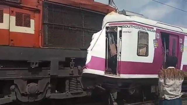 Hyderabad: Over dozen injured after two trains collide at
