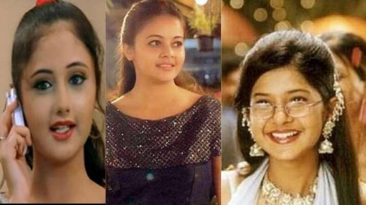 TV actress, old photos
