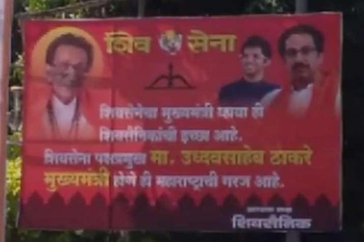 Posters showing Uddhav Thackeray as CM put up outside Matoshree