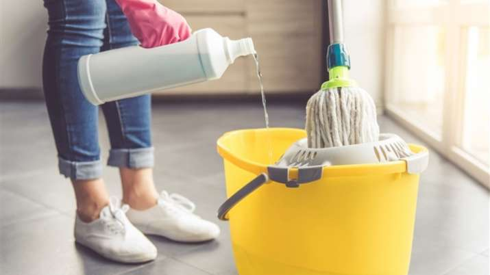 Add salt to water while cleaning the house