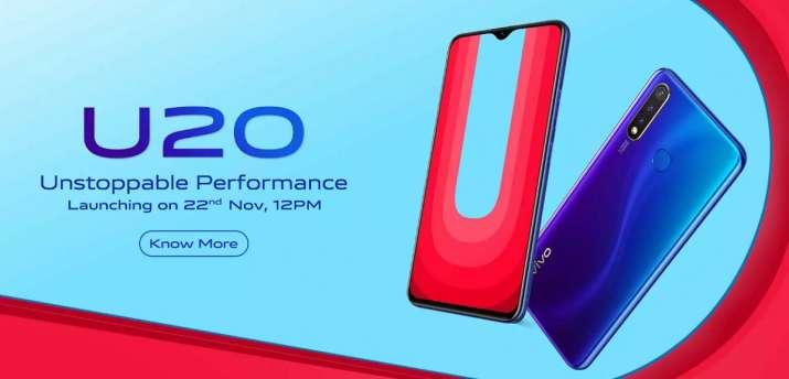 vivo, vivo india, vivo u20, india launch, price, specifications