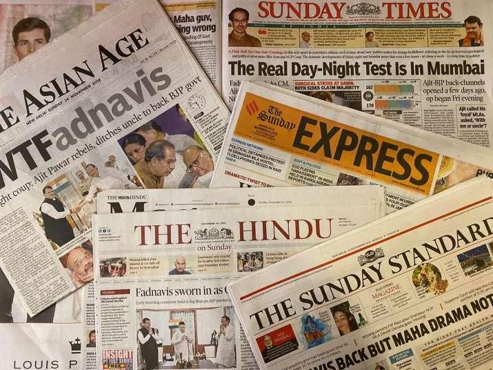 Top newspaper healines