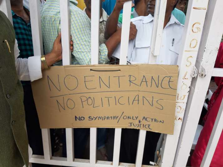India Tv - No police, No politicians... Only Justice: Hyderabad gangrape victim's society closes gates for outsiders
