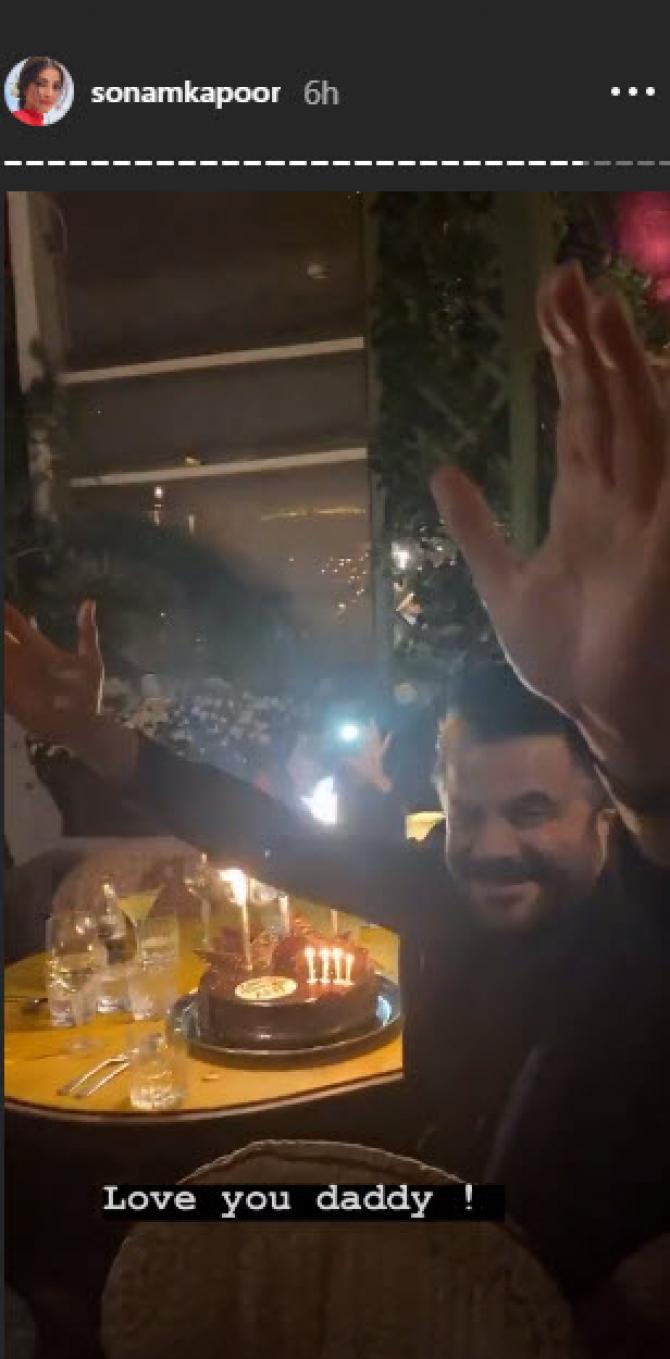 India Tv - Anil Kapoor's midnight birthday celebration photos with Sonam, Rhea and Anand Ahuja are unmissable
