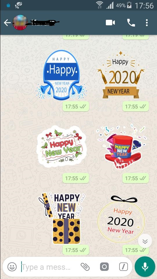 India Tv - Happy New Year 2020: Download Whatsapp Wishes Stickers