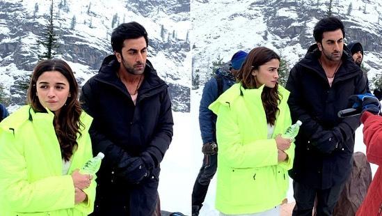 India Tv - Ranbir Kapoor, Alia Bhatt during Barhmastra shoot