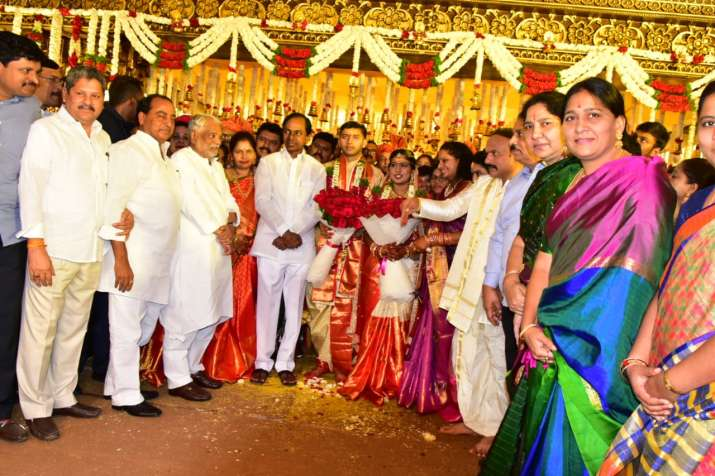 India Tv - KCR attends high profile wedding