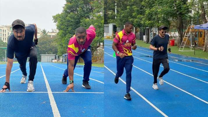 Anil Kapoor amaican sprinter Yohan Blake