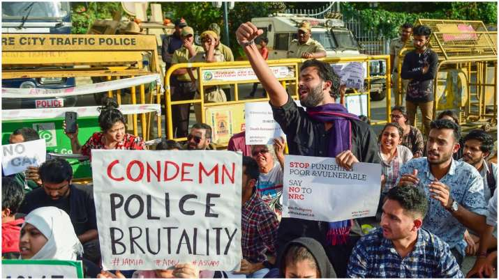 Image result for students protest jamia millia