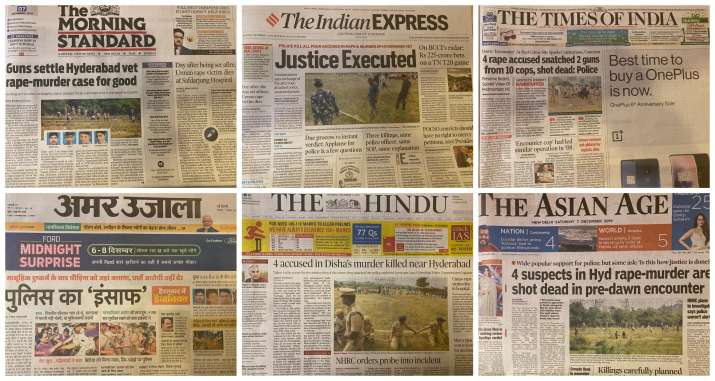 How major Indian newspapers reacted to Hyderabad
