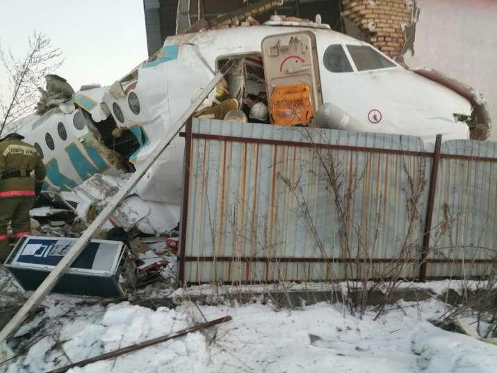 India Tv - Bek Air plane crashes in Kazakhstan