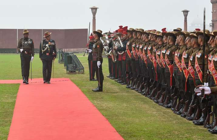 Army Chief General Bipin Rawat receives Guard of Honour
