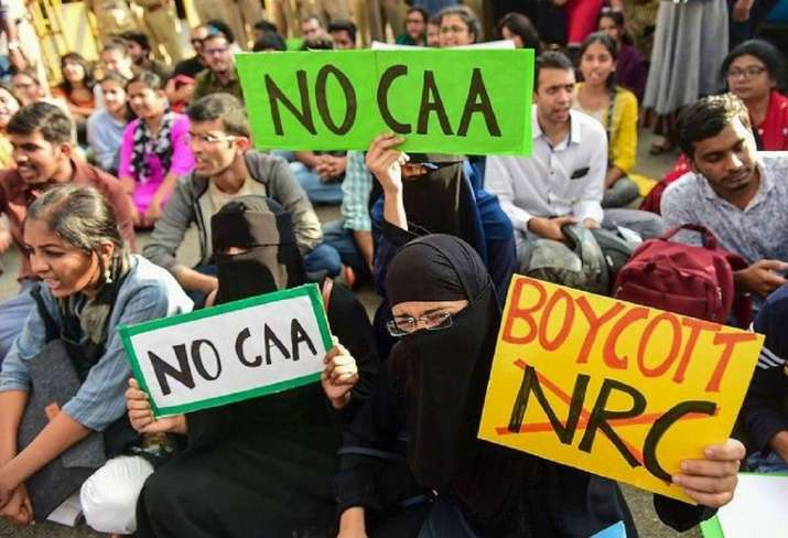 A protest against the CAA and NRC in New Delhi this week