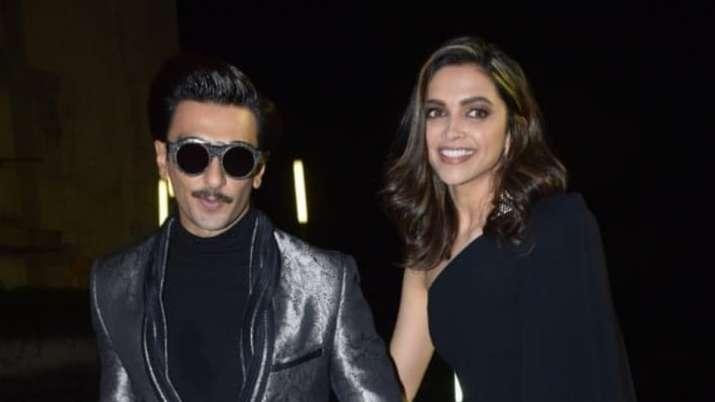 Deepika Padukone and husband Ranveer Singh at an event