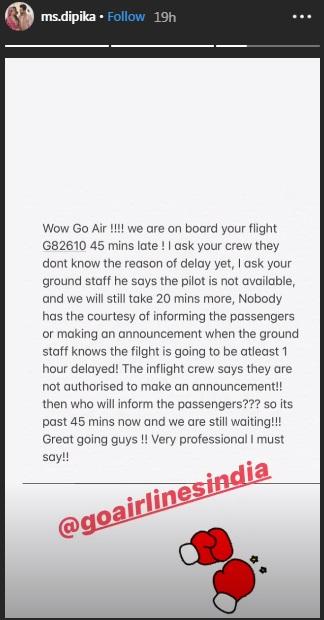 India Tv - Dipika Kakar accuses airline of unprofessional behaviour
