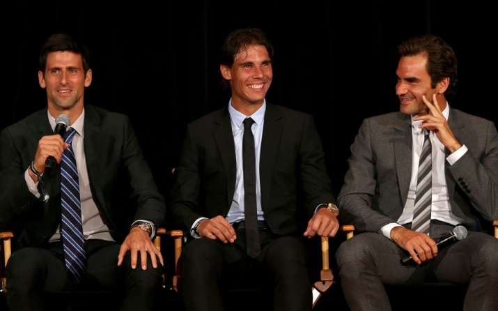 India Tv - Rafael Nadal, Novak Djokovic and Roger Federer