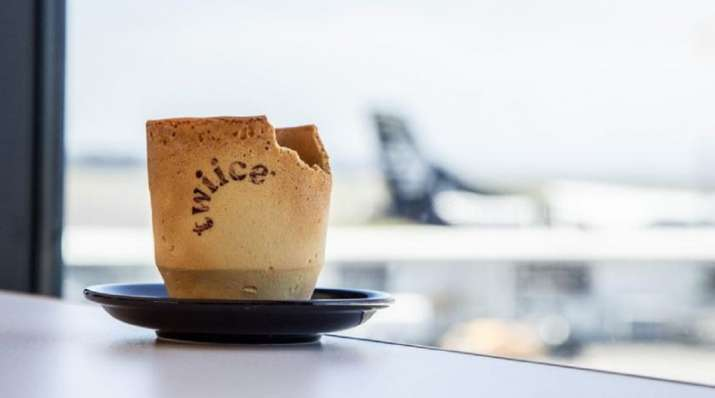 New Zealand airline trials edible coffee cups to reduce waste