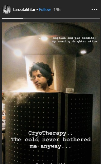 India Tv - Farhan Akhtar undergoes freezing 'cryotherapy' treatment