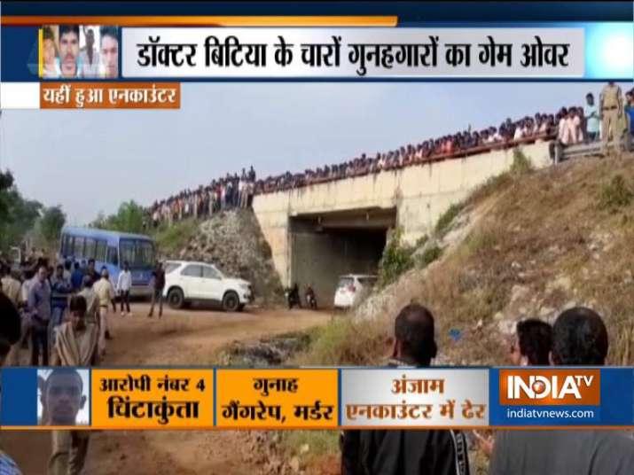 India Tv - Hyderabad vet rape accused killed