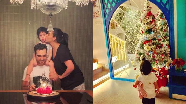 Esha Deol's daughter Radhya helps her decorate Christmas tree