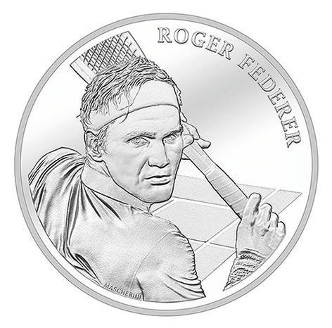 India Tv - Commemorative coin minted in Switzerland for Roger Federer