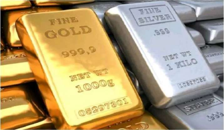 Gold prices fall by 111, silver rates decline by 168