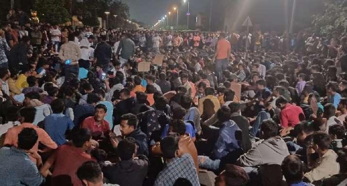 Gujarat students protest