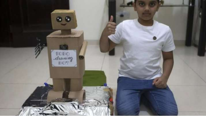 This UAE-based Indian kid built a eco-robot that segregates waste to organic composting