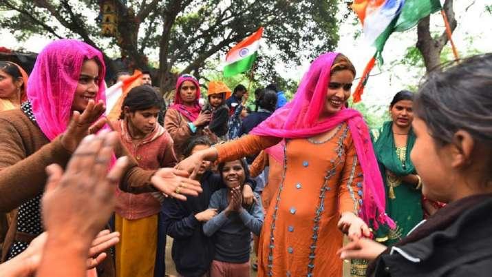 Hindu refugees celebrating the passage of CAA (file photo)
