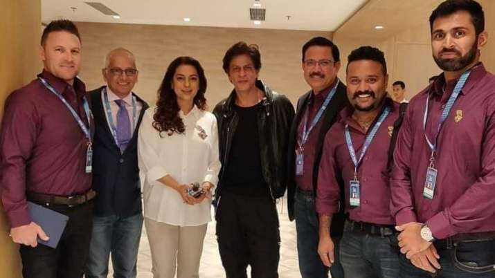 Shah Rukh Khan, Juhi Chawla attend IPL 2020 auction with full swing
