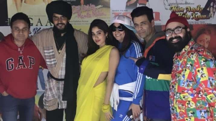 India Tv - Janhvi Kapoor with Karan Johar, Manish Malhotra, Shashank Khaitana nd his wife