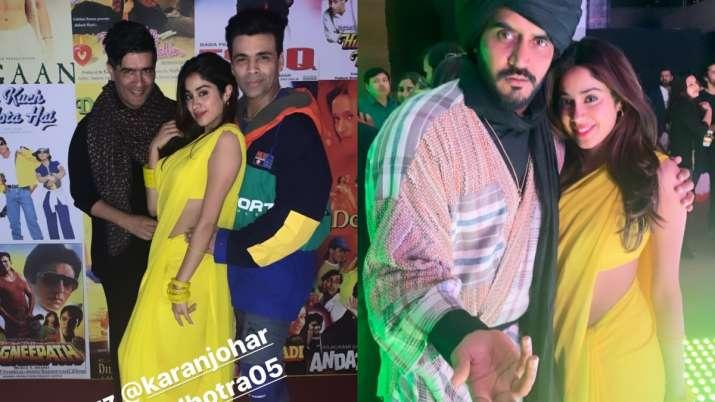 India Tv - Janhvi Kapoor at Amrit Singh Bindra's birthday bash