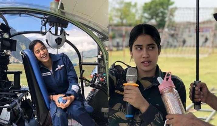 Janhvi Kapoor Shares Behind The Scenes Photos As She Wraps Gunjan Saxena The Kargil Girl Bollywood News India Tv