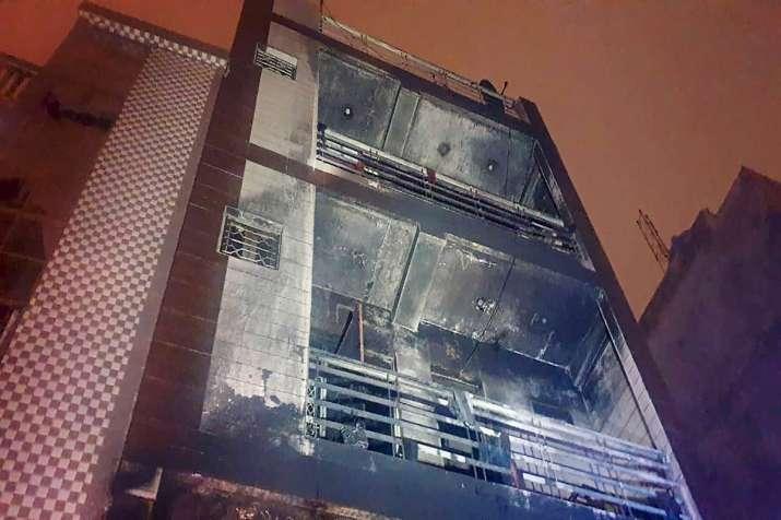 Fire incident at Delhi's Kirari area