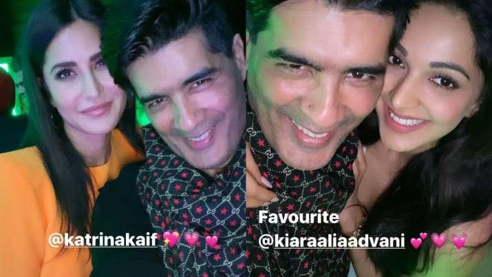 India Tv - Manish Malhotra with Katrina Kaif and Kiara Advani
