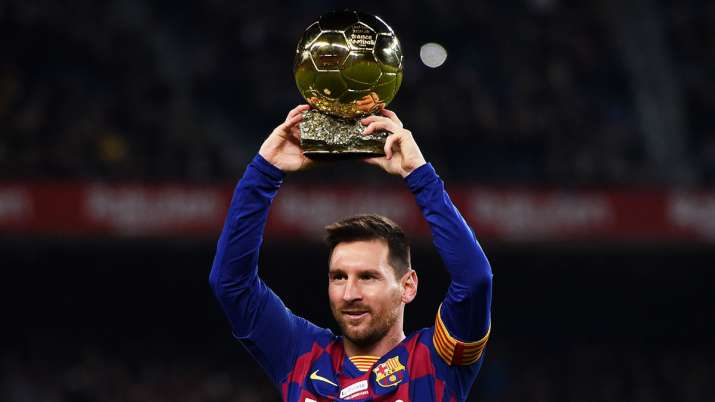 India Tv - Lionel Messi with his 6th Ballon d'Or