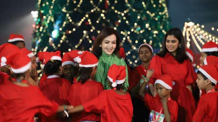 Nita Ambani celebrates Christmas with kids, inaugurates Jio