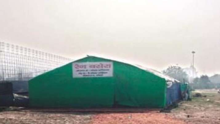 Winter night shelter in Noida Stadium for homeless is ready