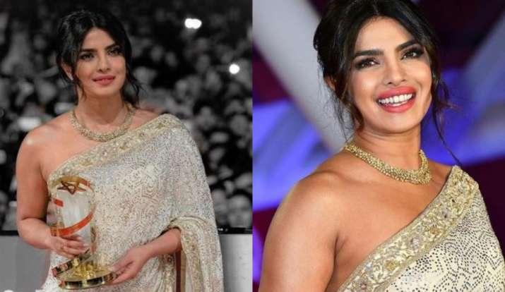 Latest Honoured News Priyanka Chopra honoured at Marrakech Film Festival, looks radiant in saree, Pr