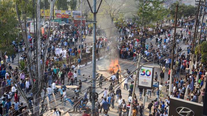 Curfew imposed in Guwahati extended indefinitely amid