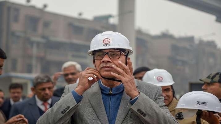 India Tv - New Delhi: DMRC Chairman Mangu Singh inaugurates fourth phase of Delhi Metro at Haiderpur Badali in