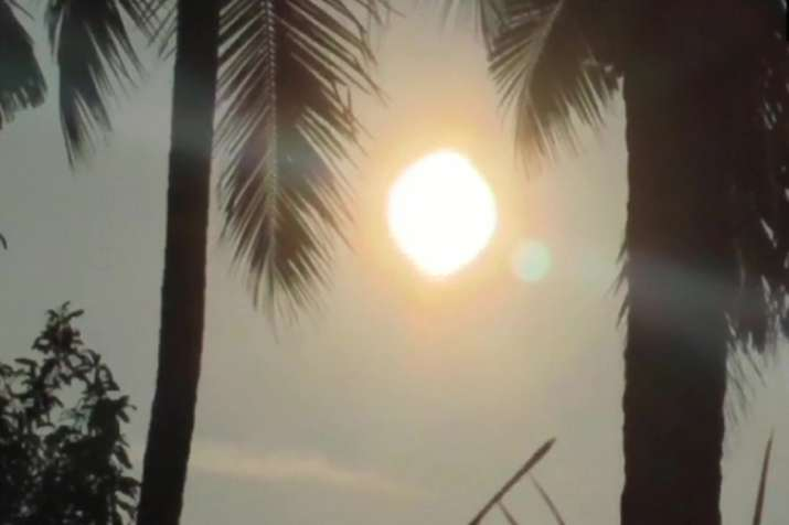 India Tv - In Kerala, early stages of solar eclipse which began around 8:55 am on Thursday.