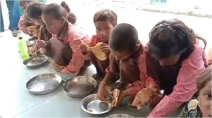 Clean chit to scribe booked after his video showed just 'namak-roti' served to students: UP Police