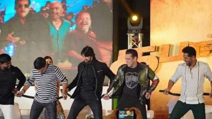 Salman Khan, Prabhudeva, Sudeep grooving to 'Munna Badnam' in Chennai is best thing on internet. Wat